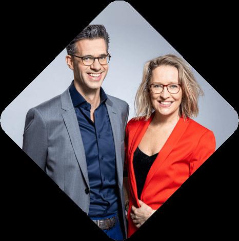 Erik Dijkstra en Willemijn Veenhoven