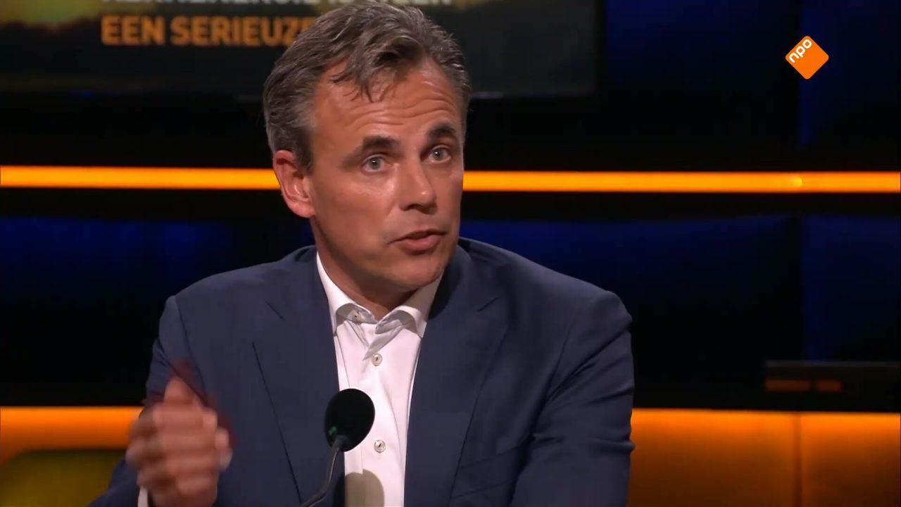 Mark Harbers (VVD) en Tom van der Lee (GroenLinks) in debat over kernenergie