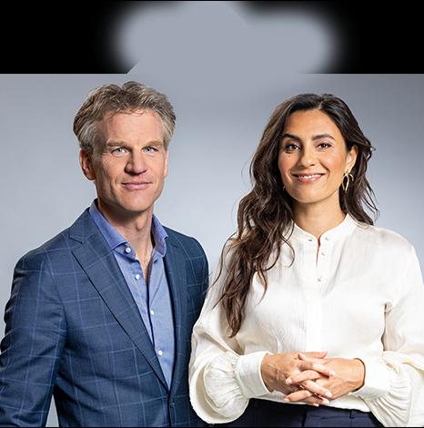 Hugo Logtenberg en Nadia Moussaid